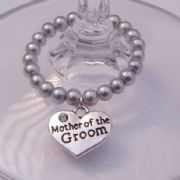 Mother Of The Groom Wine Glass Charm - Full Bead Style
